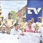 TRS Demands Removal Of TV9 Office in Hyderabad