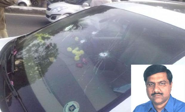 Car shot near Hyderabad KBR park