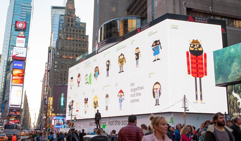 Biggest Android ad @ Times square