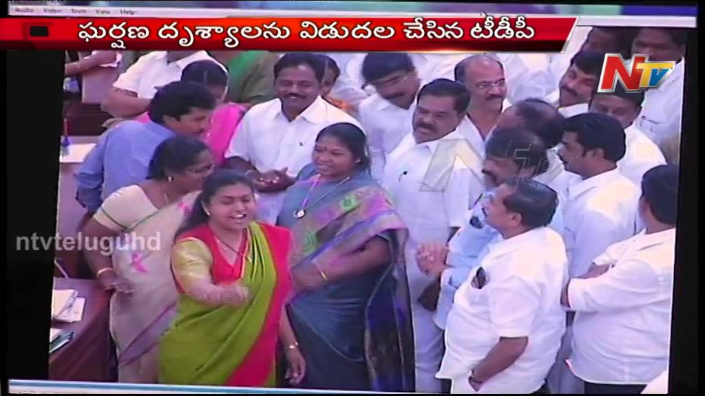 TDP & YSRCP Fight in AP Assembly