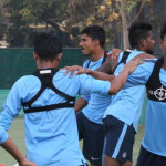India football team plays Cambodia to prepare for AFC Asian Cup