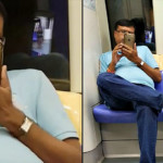 Man films Woman on Train,caught red handed