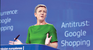 Google was fined record $2.7 billion by European Commission